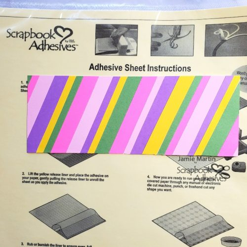 Striped Birthday Shaker Slimline by Jamie Martin for Scrapbook Adhesives by 3L