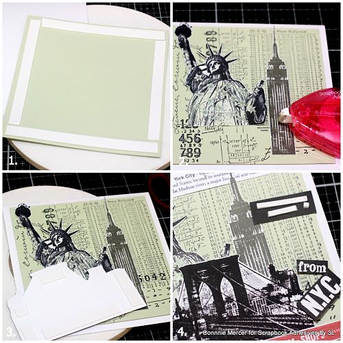 Hugs from New York City Collage Card by Connie Mercer for Scrapbook Adhesives by 3L