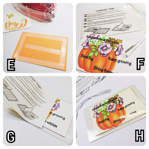 Great Pumpkin Advice in a Tag by Jenn Gross for Scrapbook Adhesives by 3L