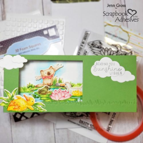 Sunshine Wishes 3D Slimline Card by Jenn Gross for Scrapbook Adhesives by 3L