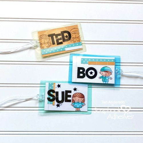Backpack Name Tags by Teri Anderson for Scrapbook Adhesives by 3L