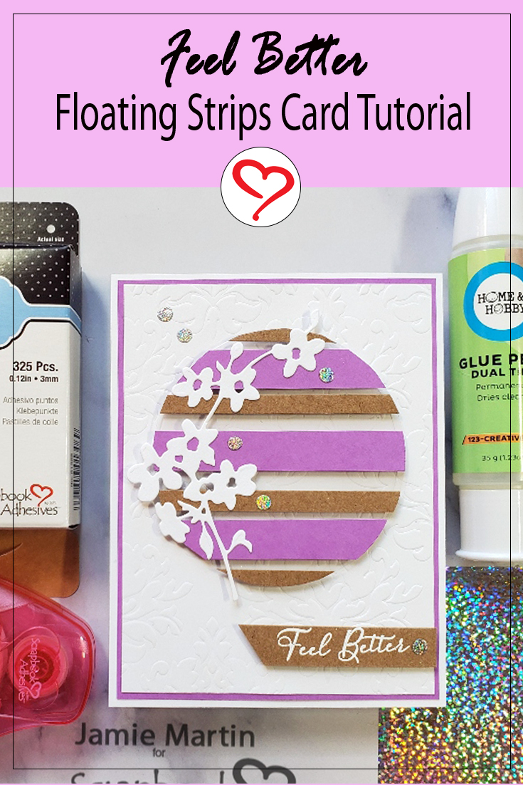 Floating Strips Card by Jamie Martin for Scrapbook Adhesives by 3L Pinterest