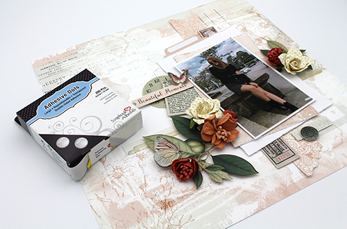 Beautiful Moments Dimensional Layout by Tracy McLennon for Scrapbook Adhesives by 3L