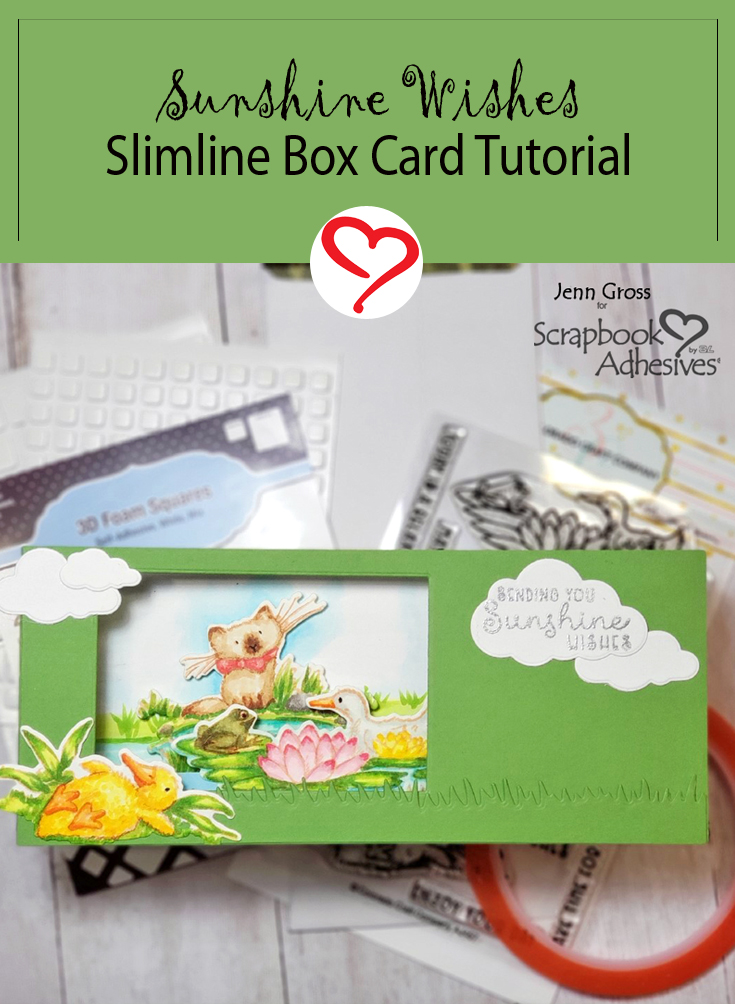 Sunshine Wishes 3D Slimline Card by Jenn Gross for Scrapbook Adhesives by 3L Pinterest