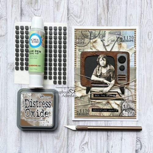 TV Frame Card Tutorial by Yvonne van de Grijp for Scrapbook Adhesives by 3L