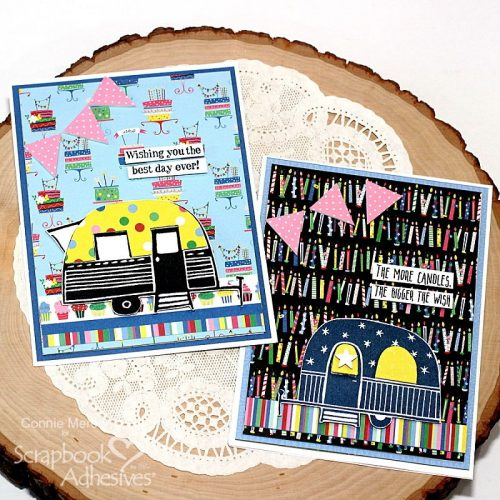 Happy Camper Birthday Cards by Connie Mercer for Scrapbook Adhesives  by 3L