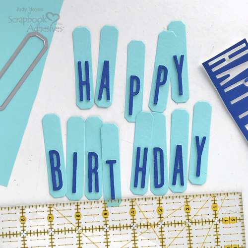 Tall Happy Birthday Banner by Judy Hayes for Scrapbook Adhesives by 3L