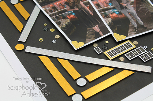Metallic Background Layout by Tracy McLennon for Scrapbook Adhesives by 3L