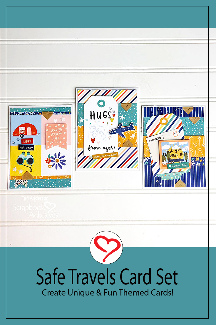 Cards for Travelers by Teri Anderson for Scrapbook Adhesives by 3L Pinterest