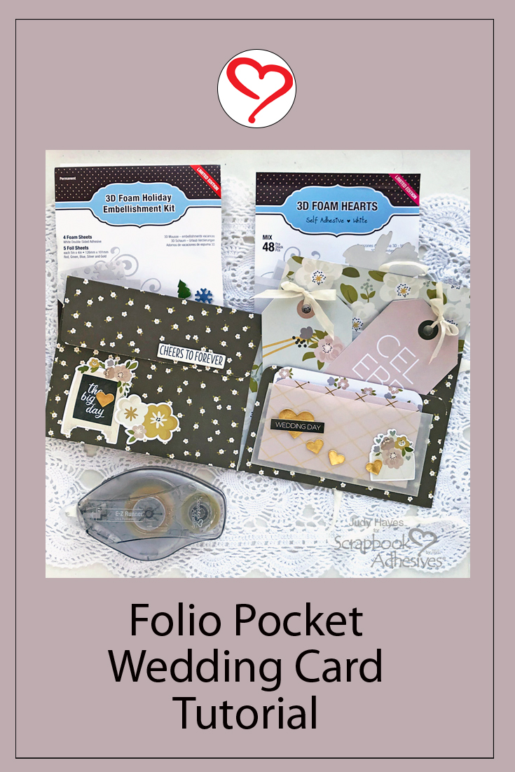 Folio Pocket Wedding Card by Judy Hayes for Scrapbook Adhesives by 3L Pinterest