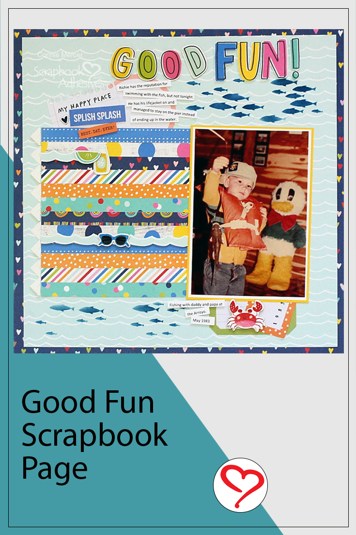 Good Fun Page with Simple Stories by Connie Mercer for Scrapbook Adhesives by 3L Pinterest