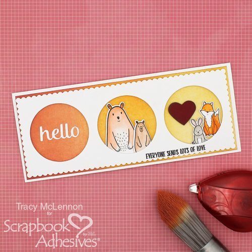 Dimensional Hello Slimline Card by Tracy McLennon for Scrapbook Adhesives by 3L