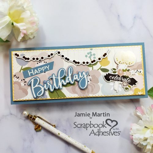 Celebrate Birthday Card and Gift Box by Jamie Martin for Scrapbook Adhesives by 3L