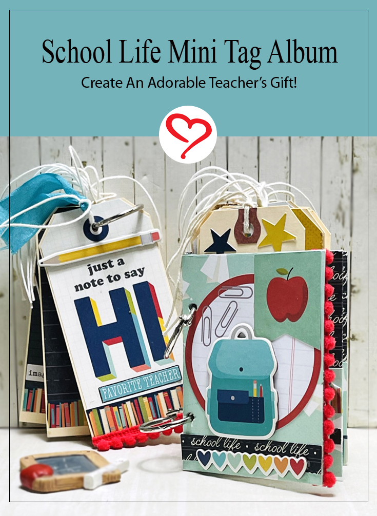 School Life Mini Tag Album by Linda Lucas for Scrapbook Adhesives by 3L