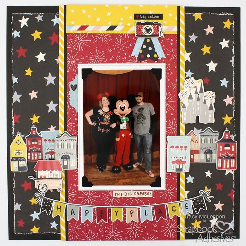 Happy Place Layered Embellishments by Tracy McLennon for Scrapbook Adhesives by 3L