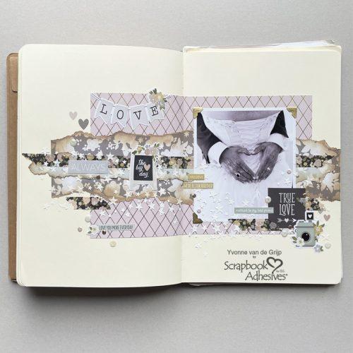 True Love Art Journal by Yvonne van de Grijp for Scrapbook Adhesives by 3L