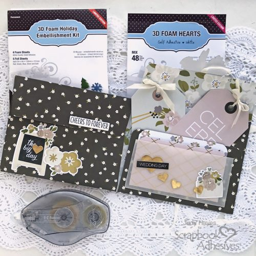Folio Pocket Wedding Card by Judy Hayes for Scrapbook Adhesives by 3L