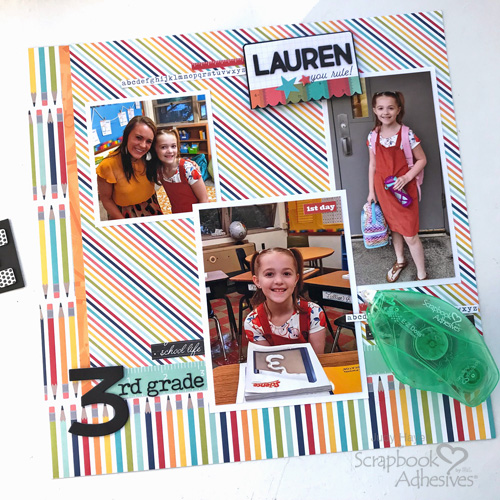First Day of School Scrapbook Page by Judy Hayes for Scrapbook Adhesives by 3L