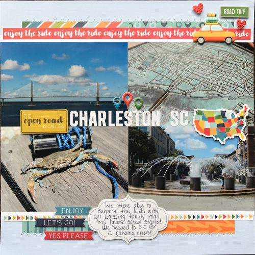 Charleston SC SB Page by Latrice Murphy for Scrapbook Adhesives by 3L