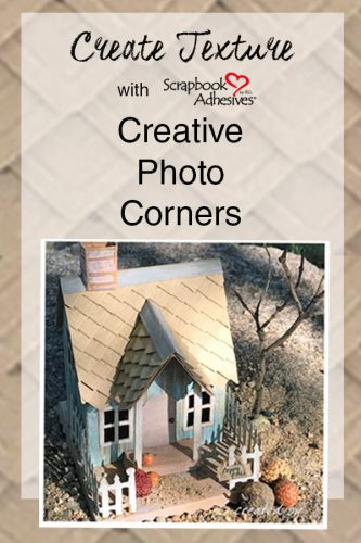 Create Texture with Creative Photo Corners from Scrapbook Adhesives by 3L
