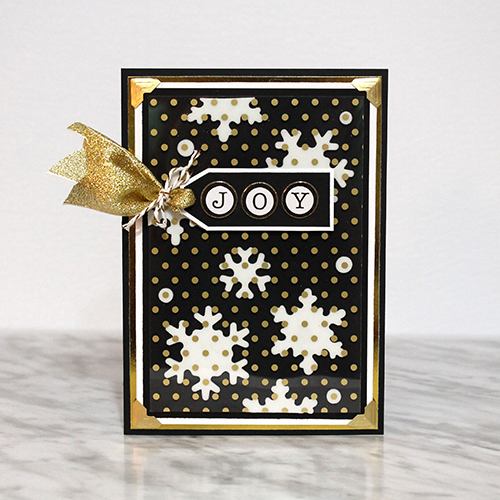 Joy Card Tutorial with 3D Foam Snowflakes by Tracy McLennon for Scrapbook Adhesives by 3L