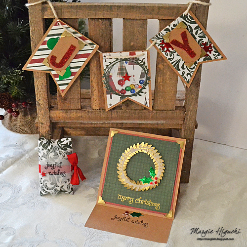 Holiday Trio Ensemble and 12 Days of Christmas 2017 with FaveCraft JOY Trio Ensemble by Margie Higuchi for Scrapbook Adhesives by 3L