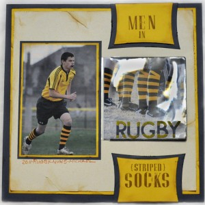 Rugby Men in Striped Socks by Beth Pingry for Scrapbook Adhesives By 3L,