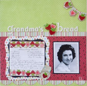 Recipe scrapbook page by Beth Pingry