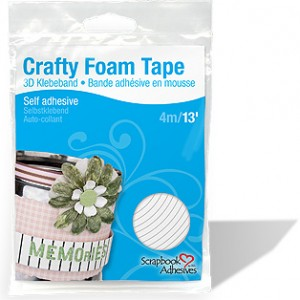 Crafty Foam Tape White 13""