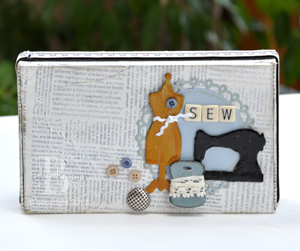 Sewing Box with Adhesive Sheets by Beth Pingry