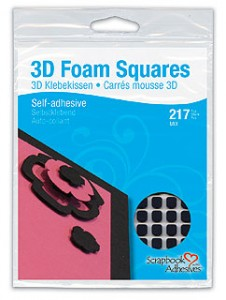 3D Foam Squares Black Mix