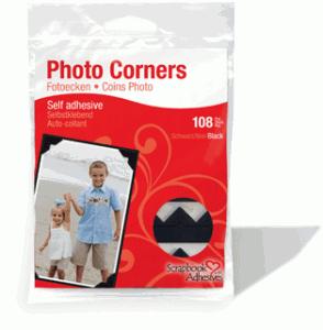 Classic Photo Corners Black Paper