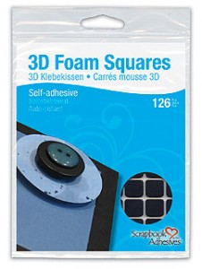 3D Foam Squares Black regular