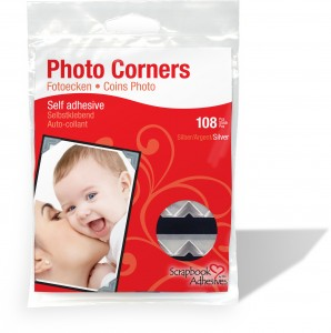 Classic Photo Corners Silver Paper