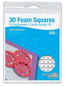 3D Foam Squares White Small