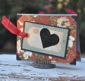 Beth Pingry Embellished Heart card