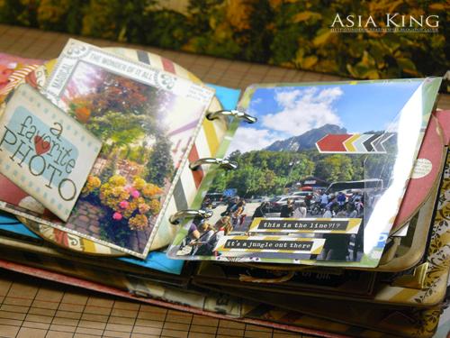 Flower photos in scrapbooking