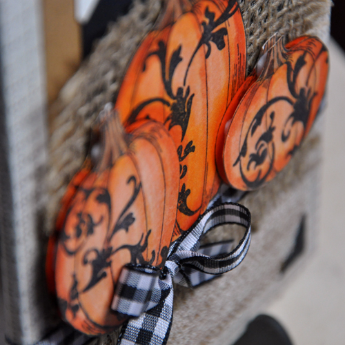 Rustic Pumpkin Sign by Beth Pingry for Stampendous + Scrapbook Adhesives by 3L
